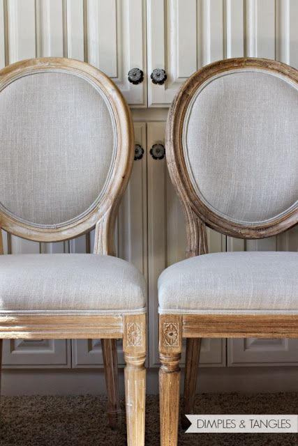 TJ Maxx Marshalls or Homegoods Louis chairs sanded and stained to