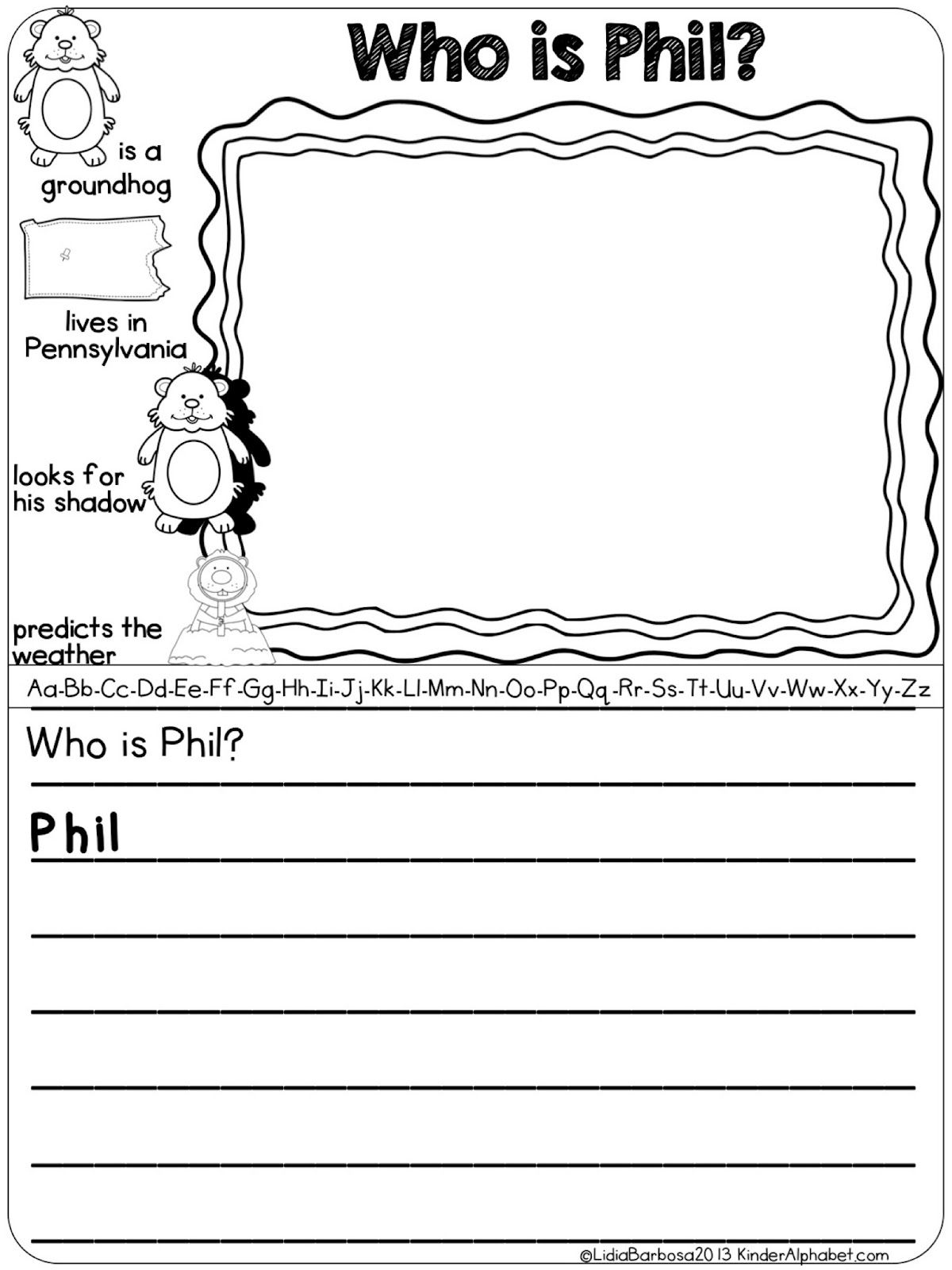 Groundhog Day Activities Free Who Is Phil Writing