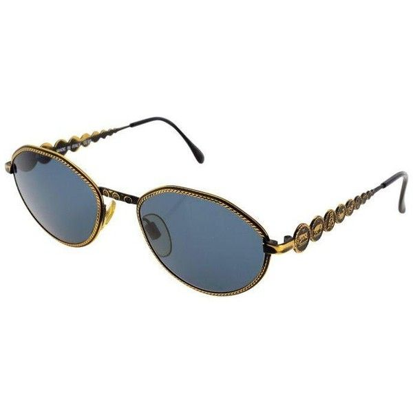 c42f7bac8a0 Fendi Black   Gold Roped Sunglasses ( 345) ❤ liked on Polyvore featuring  accessories