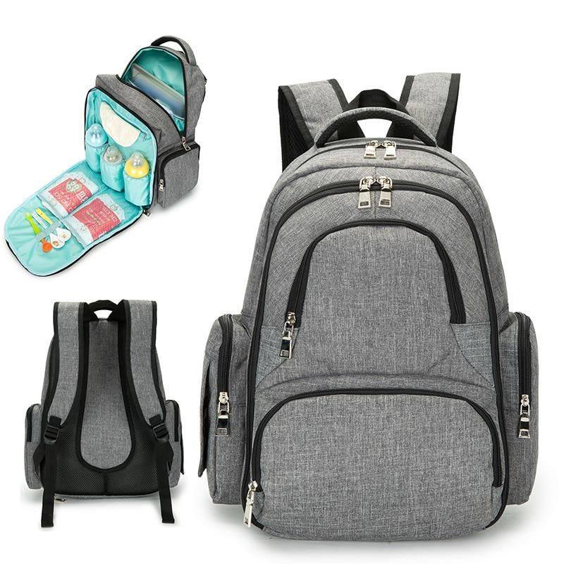 Multi-Function Mummy Nappy Diaper Bag Baby Travel Changing Nursing Backpack