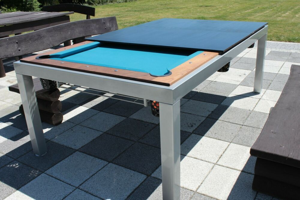 7ft Outdoor Pool Table Vermount Slate Bed Billiard Dining Table Garden Patio Lissy In 2020 Outdoor Pool Table Outdoor Pool Billiards Dining Table