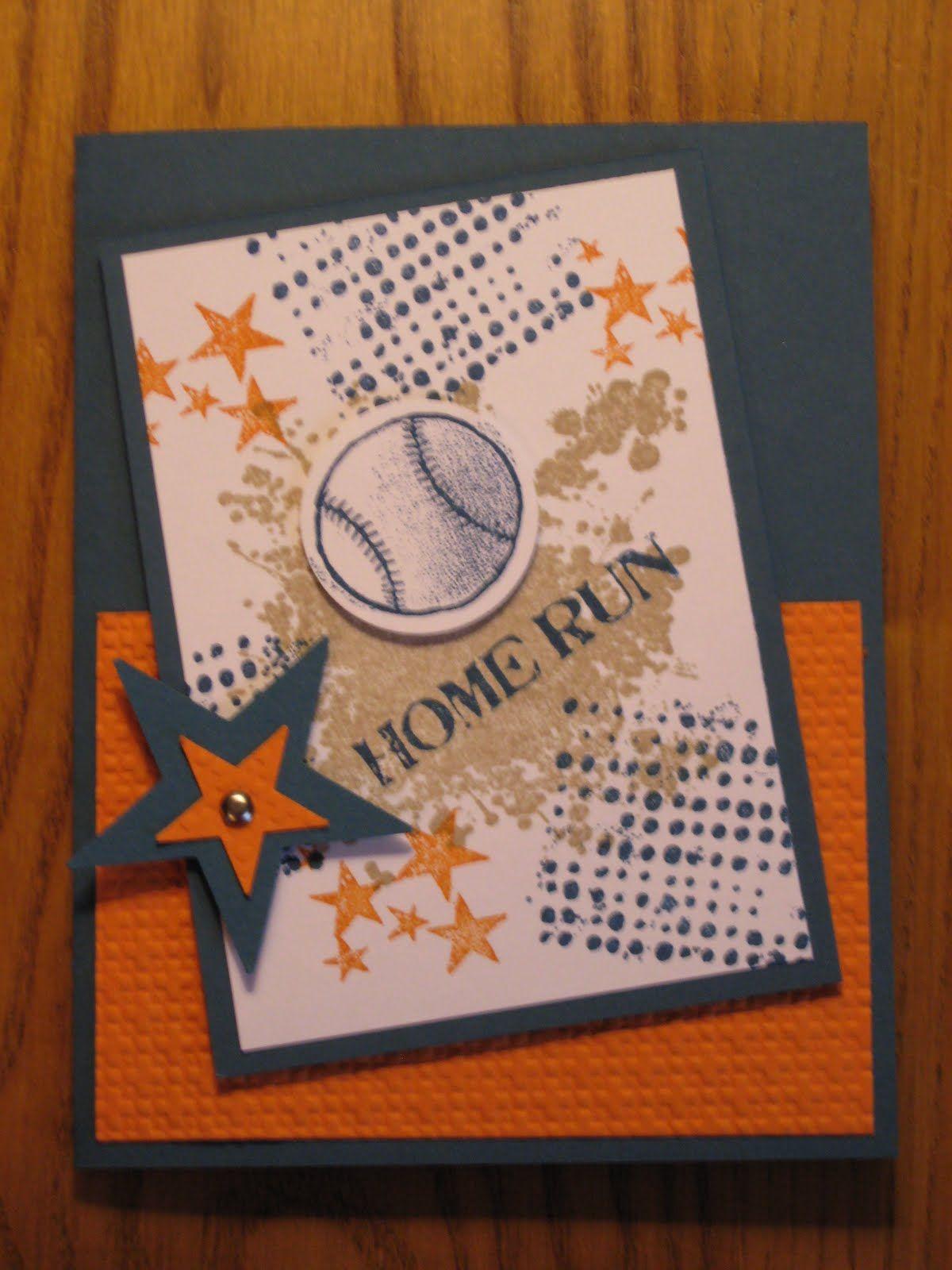 Melissas Stampin Memories Stampin Up Home Run Baseball Card