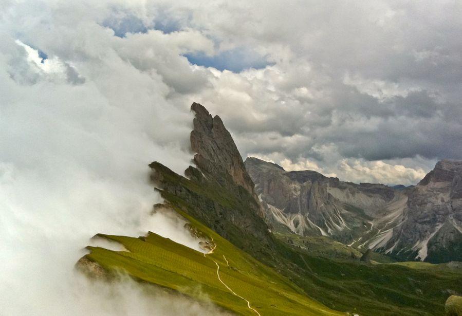 The Dolomites under a Stormy Sky
