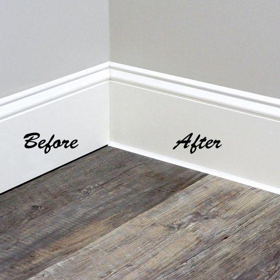 Pin By Karen Bednarek Godzala On Diy And Crafts In 2020 White Baseboards Moldings And Trim Diy Home Repair