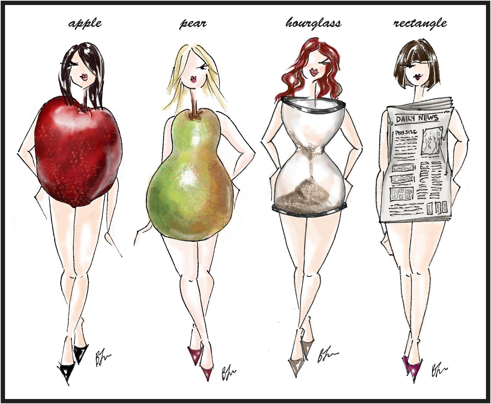 18bcdd2431 Lisa  Use fruits and stuff s shape to describe womens body. Crowning Around  The Farm  Dress for your Body Shape