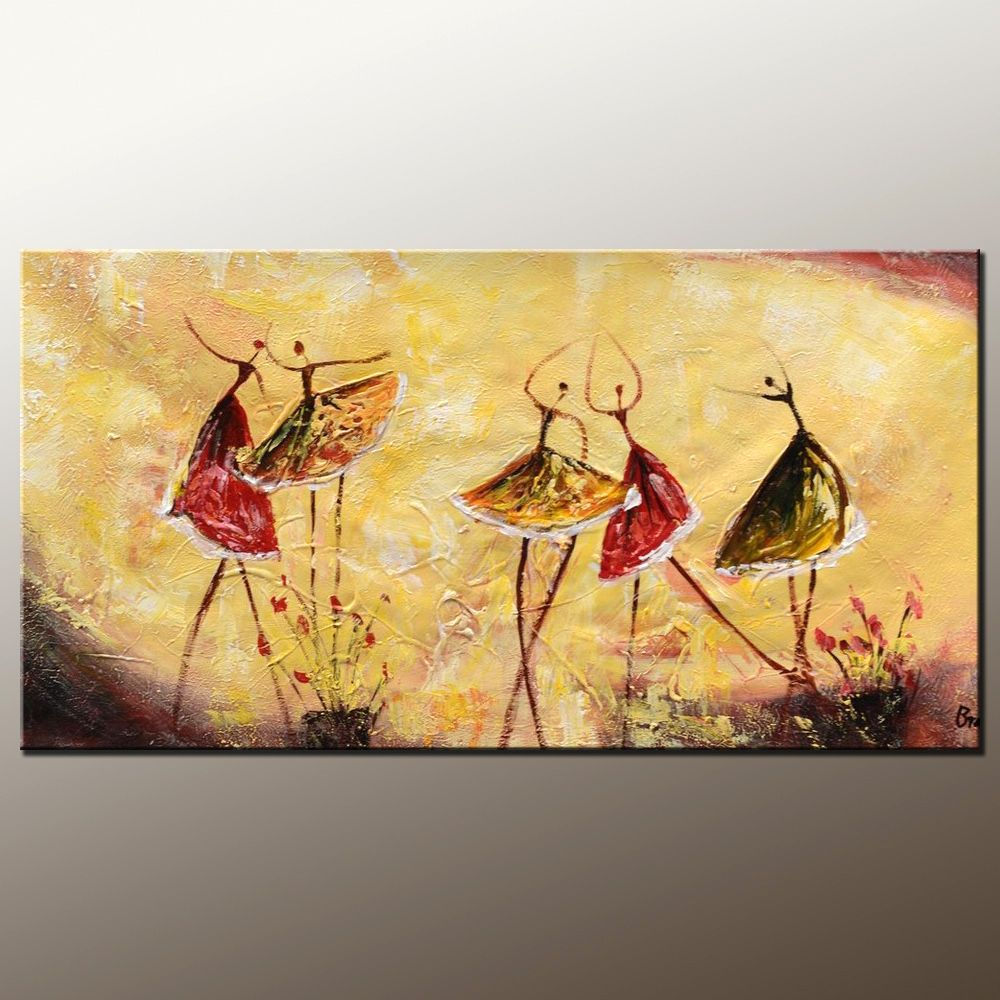 Bedroom Wall Art Abstract Painting Ballet Dancer Canvas