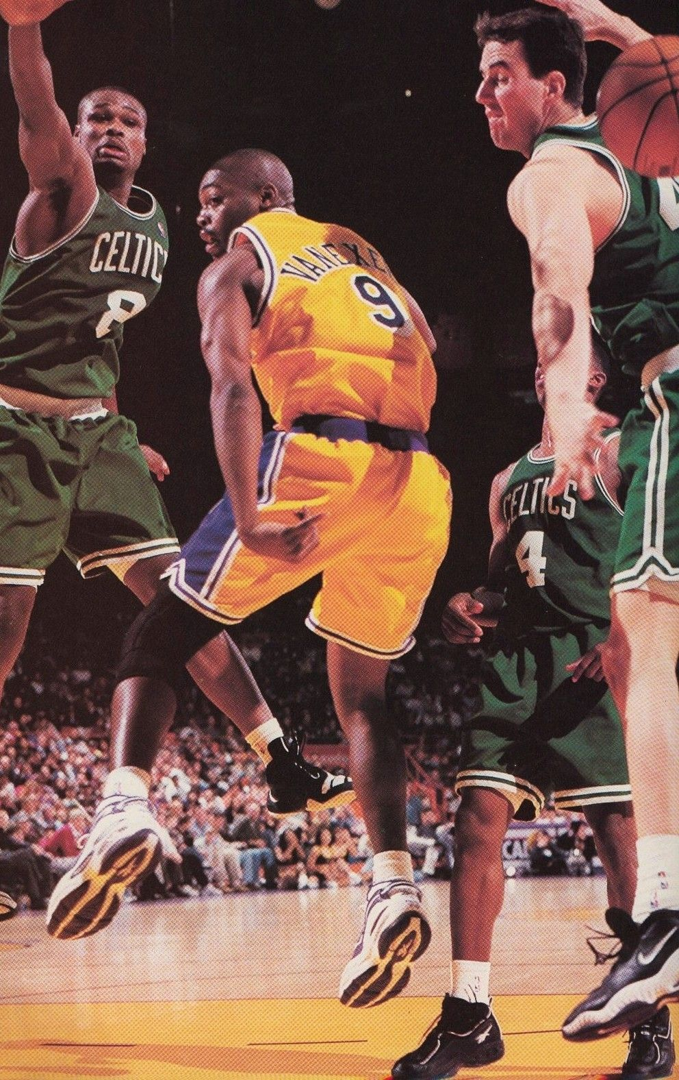 Van Exel Passes Out A Crowd, '98. Nba legends, Inside