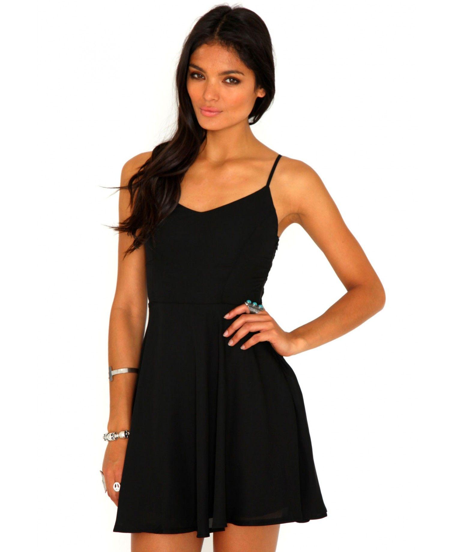 9f815763f Paula Caged Back Skater Dress - Dresses - Missguided   stylize