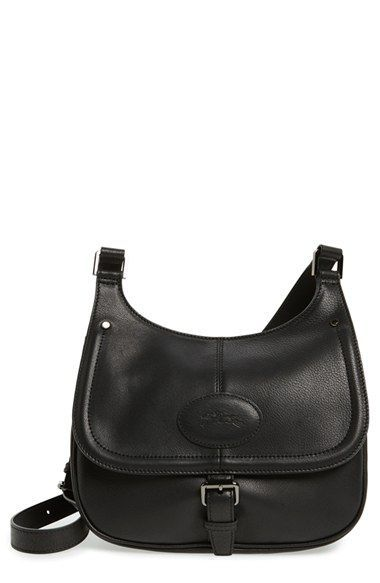 7b85622cd Longchamp 'Mystery' Leather Saddle Crossbody Bag | $150-$1000: Bags ...