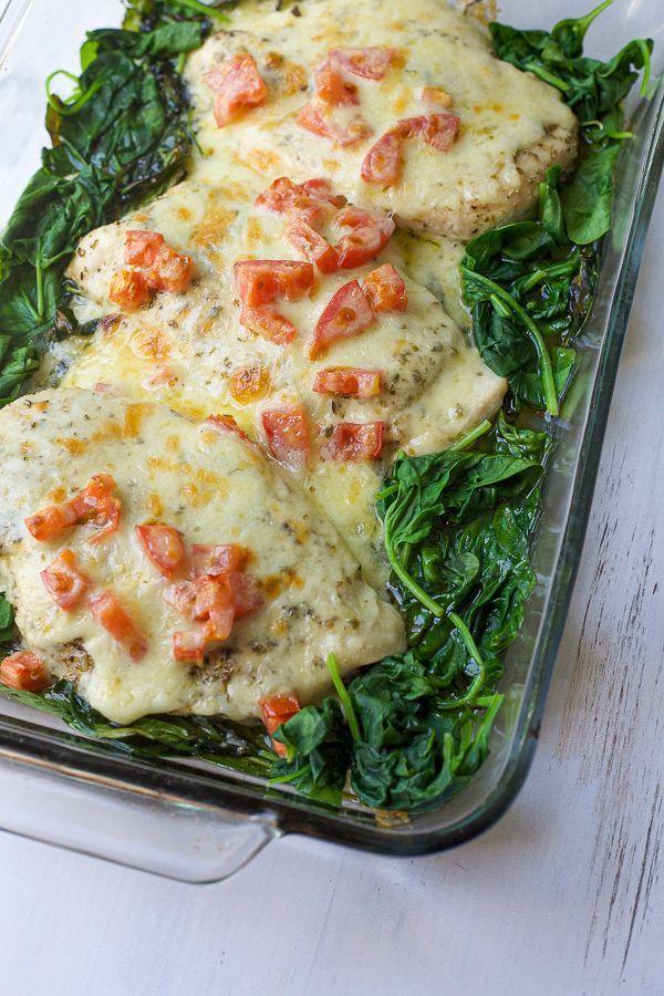 Baked Chicken Florentine - Healthy Family Dinner