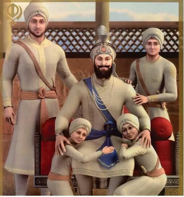 Guru Gobind Singh and His four sons