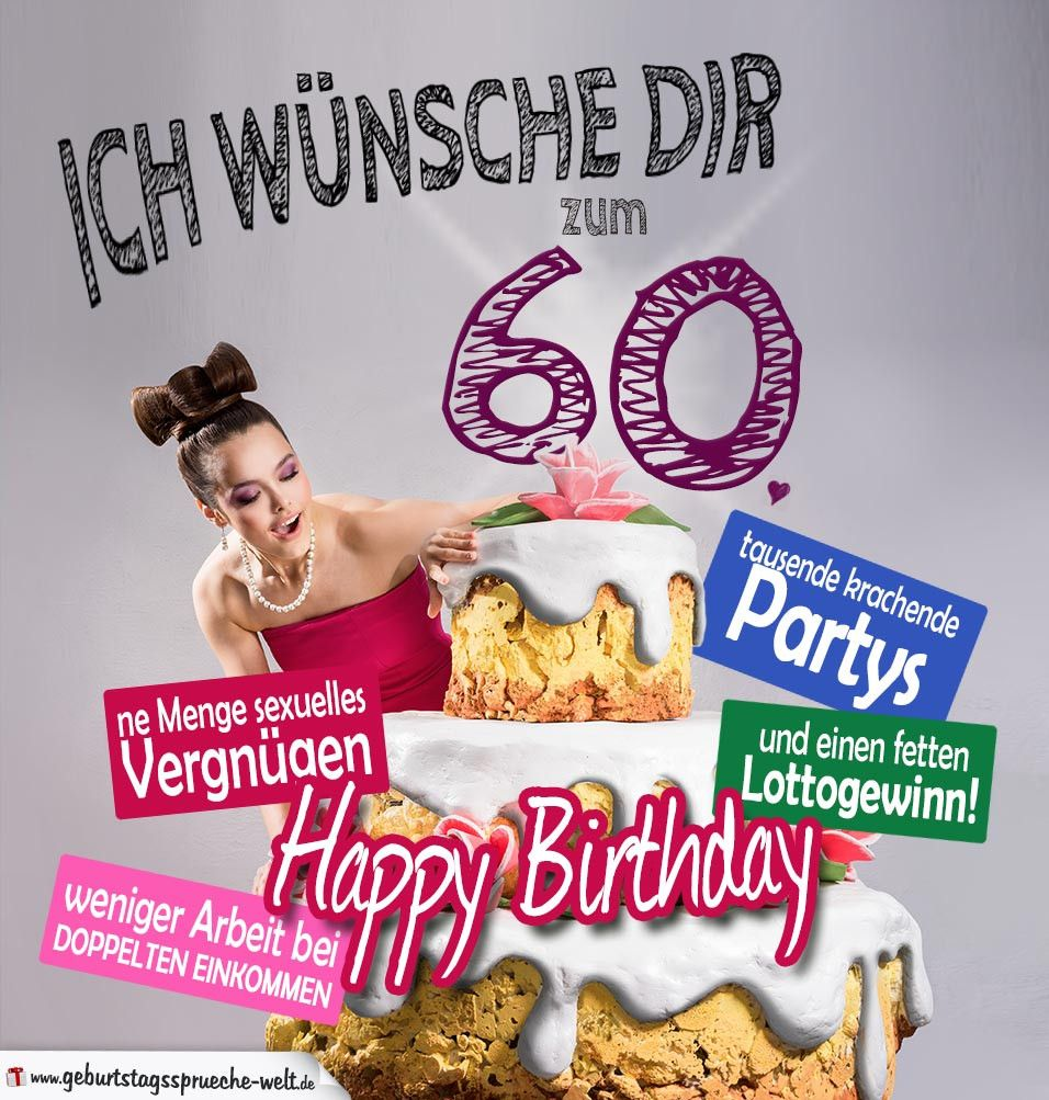 Spruch Zum 60 Geburtstag Geburtstagskarte Elegant Gluckwunsche