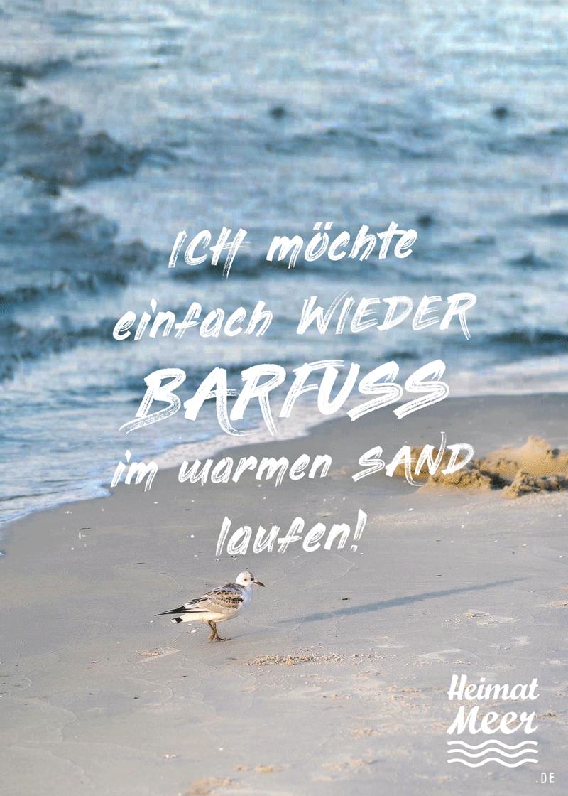 Barfuß Im Warmen Sand Laufen Strand Sprüche Sprüche