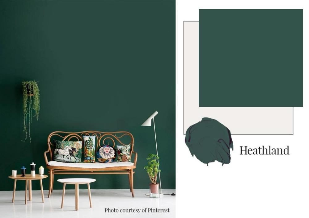Heathland Dulux Google Search Dark Green Living Room Dark Green Rooms Dulux Paint