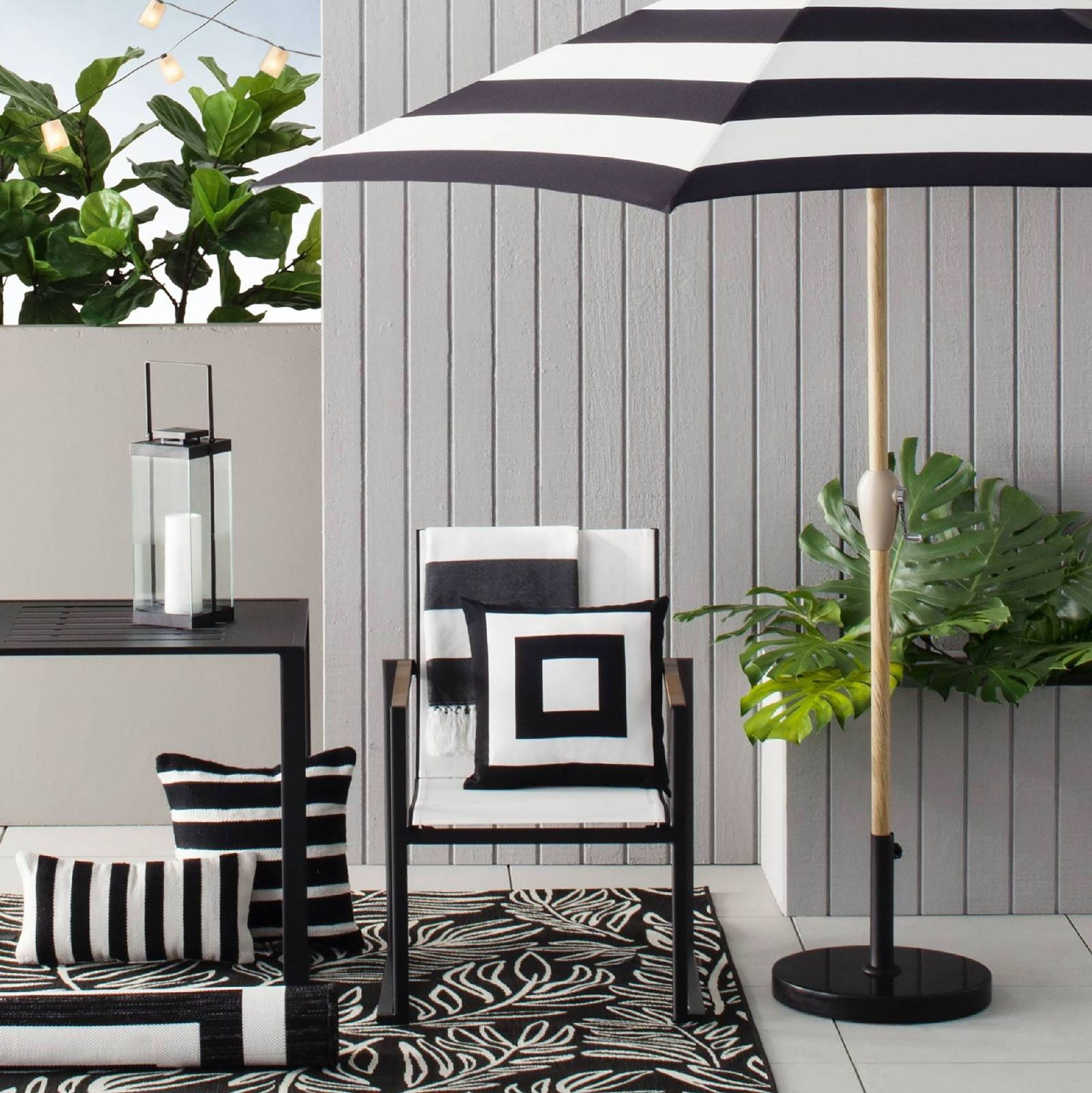 10 Fabulous Black White Outdoor Finds At Target The Tomkat Studio Blog Outdoor Patio Decor Patio Furniture Collection Patio Decor
