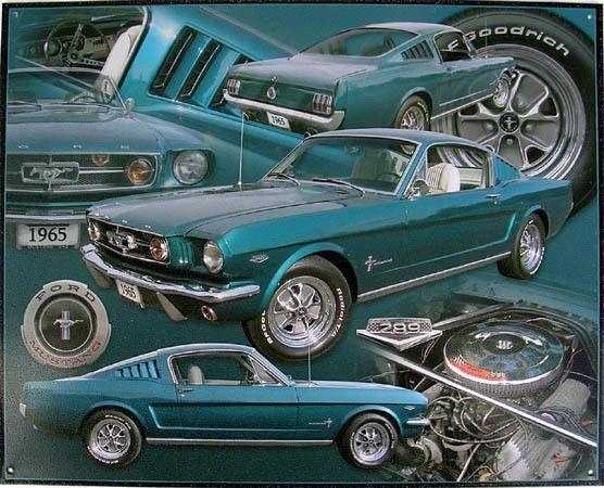 Mustang Boss 302 Metal Tin Sign Ford Retro Man Cave Garage Bar Decor