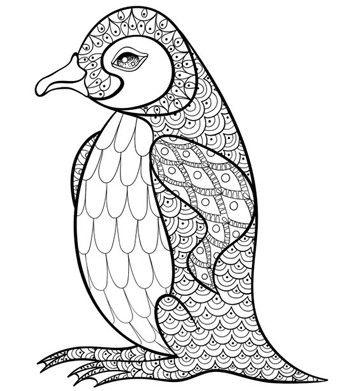 dibujos de pinguinos para colorear faciles | imagenes | Pinterest ...