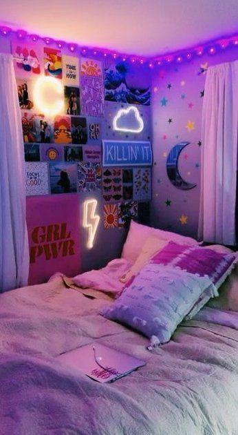 Pin by Faith Watkinson on room goals :( in 2020 | Dorm ... on Room Decor Ideas De Cuartos Aesthetic id=18123
