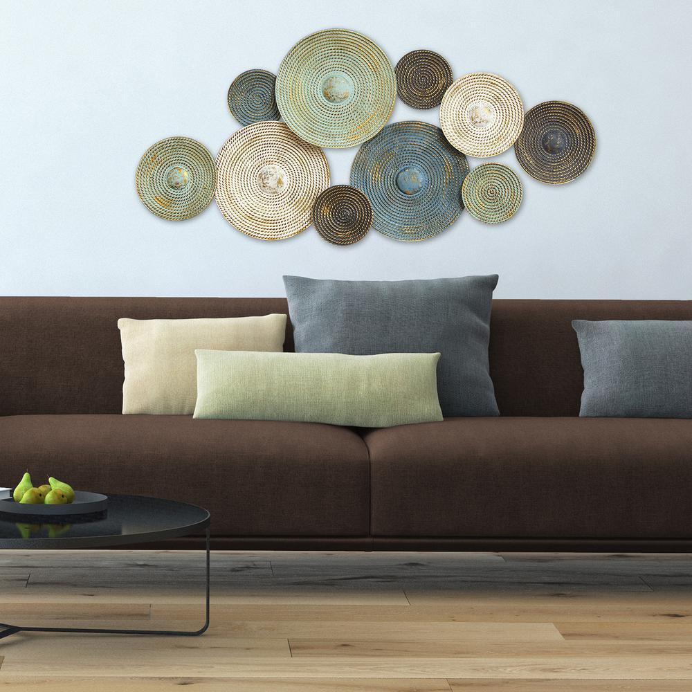Asheville Textured Metal Plates Wall Decor
