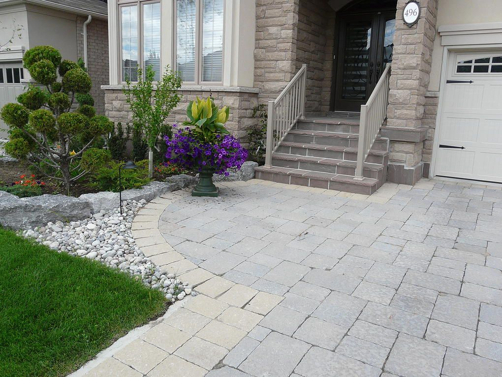 Armour stone landscaping front yard landscaping for Front yard stone landscaping