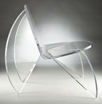 Butterfly chair in acrylic by Laurie Beckerman