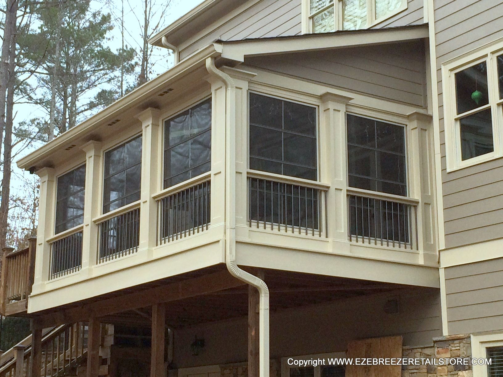 This customer transformed part of their 2nd floor deck for Screen room addition plans
