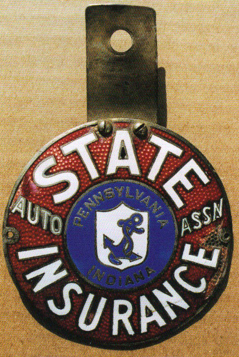 State Insurance License Plate Topper Porcelain Signs