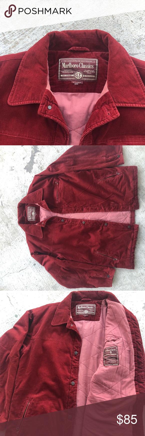 Vintage Men S Marlboro Classics Corduroy Jacket Corduroy Jacket Vintage Men Classic Jacket