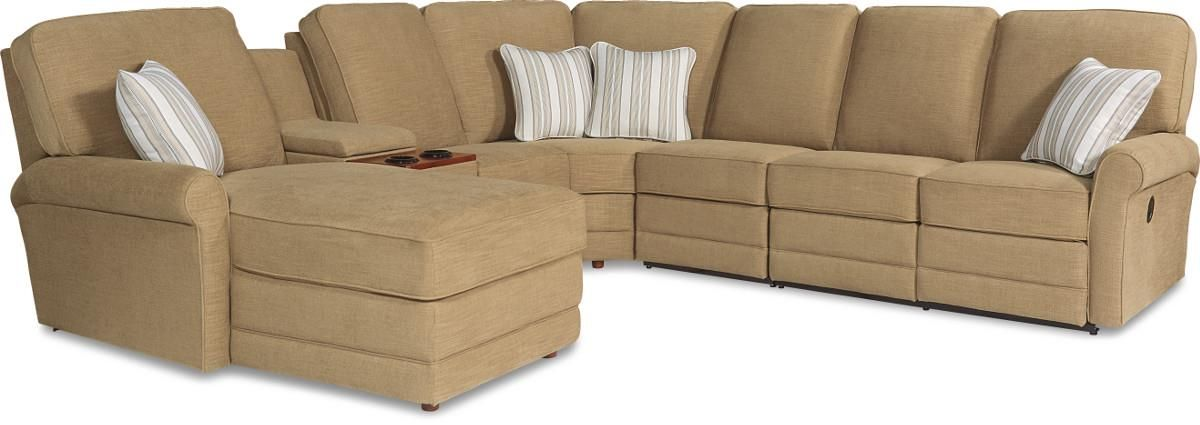 Addison 6 Pc Reclining Sectional Sofa W Laf Chaise By La Z Boy