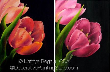 The Decorative Painting Store: Spring Tulips Pattern - Kathye Begala CDA - PDF DOWNLOAD, Newly Added Painting Patterns / e-Patterns