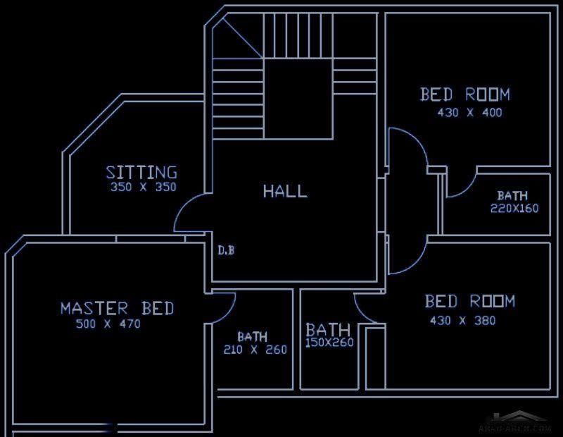مخطط الفيلا صغيرة المساحه 4 غرف نوم ماستر How To Plan House Plans Master Bedding
