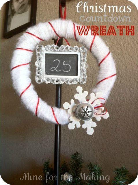 Christmas countdown wreath