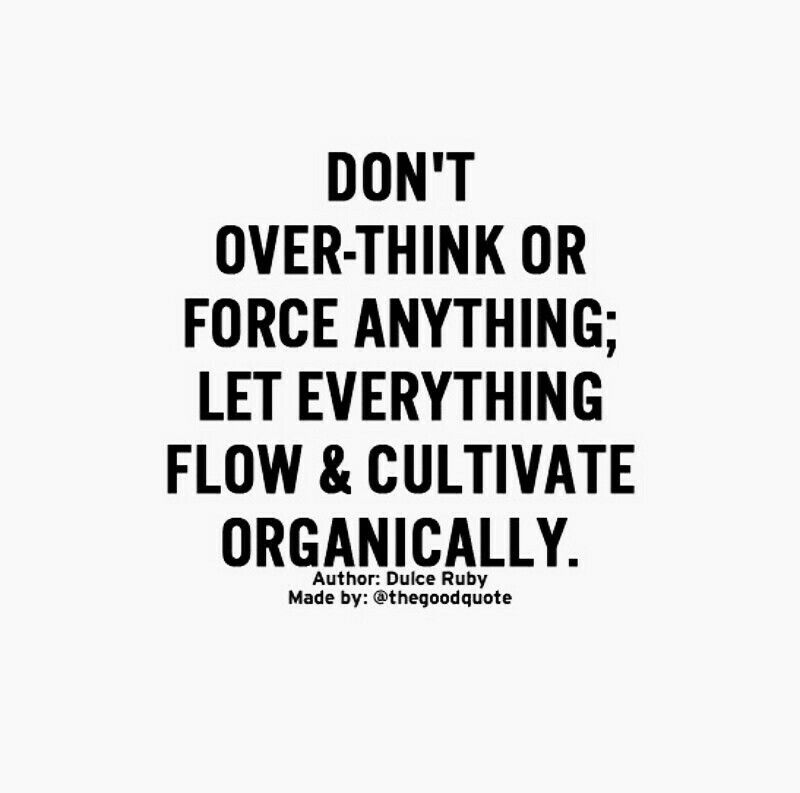 Y over think quote