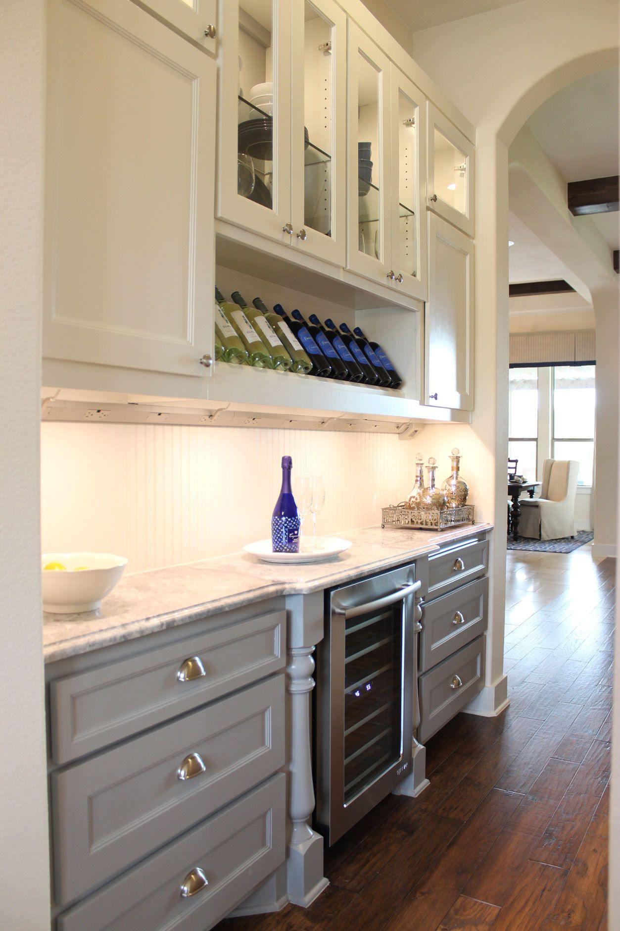 Burrows Cabinets Butlers Pantry White And Grey Wine Storage Pantry Cabinet Kitchen Butlers Pantry Grey Kitchen Cabinets
