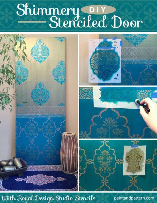 Indian Stencils DIY Projects on Paint + Pattern Painted patterns - wandgestaltung in der k amp uuml che
