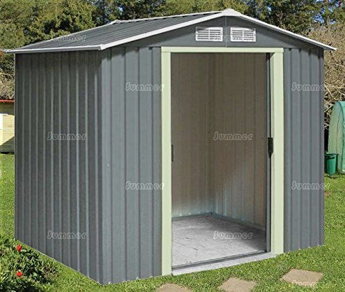 metal shed apex roof double door galvanized steel size 7x6 summer