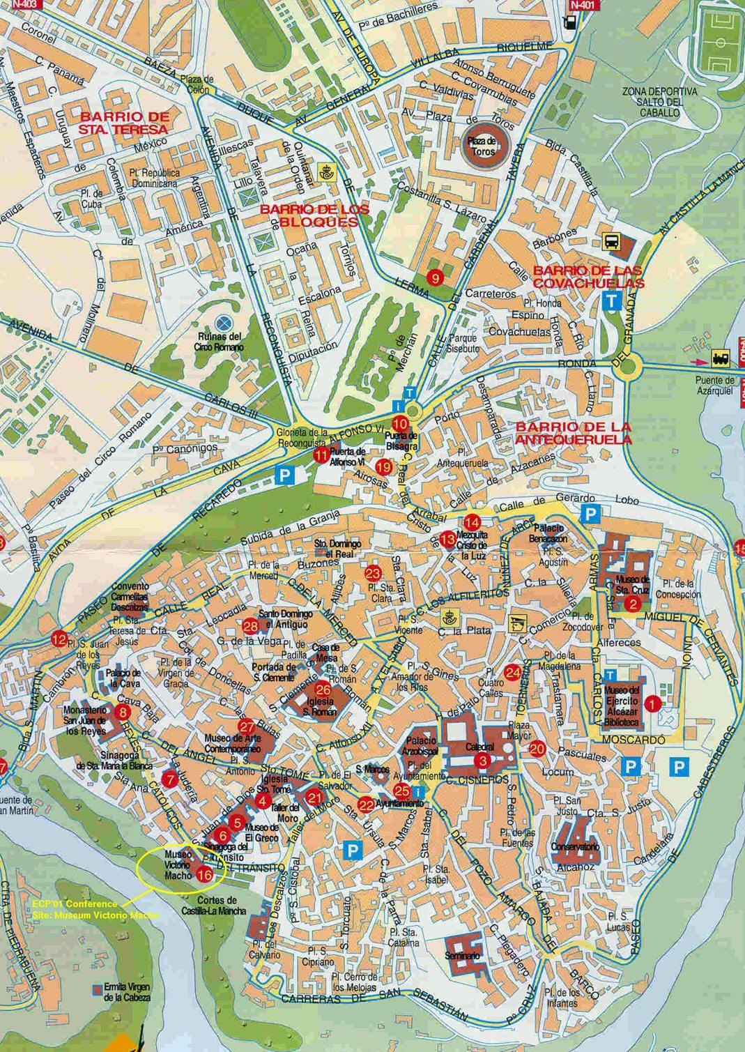 Cartina Citta Spagna.Mappa Toledo Cartina Di Toledo In Spagna Nel 2020 Mappe