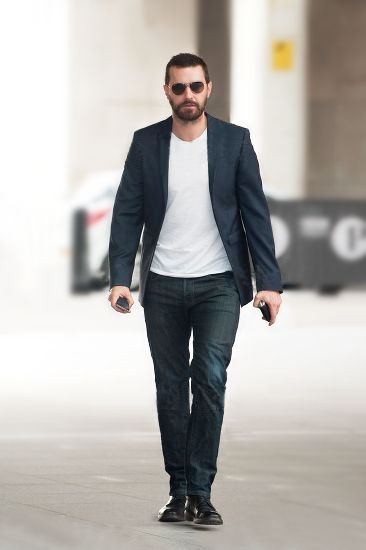 Richard Armitage arriving at The Andrew Mar Show July 20 2014