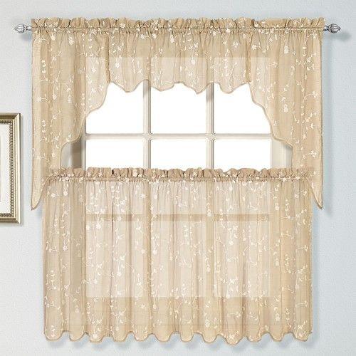 Curtain & Bath Outlet - Savannah Embroidered Curtain Tier