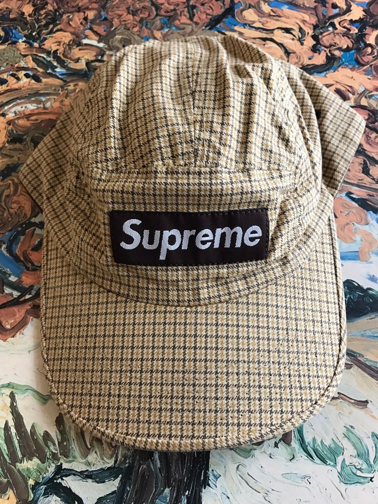 9c876fee Supreme (FW04) Vintage Houndstooth Plaid Camp Cap Size ONE SIZE ...