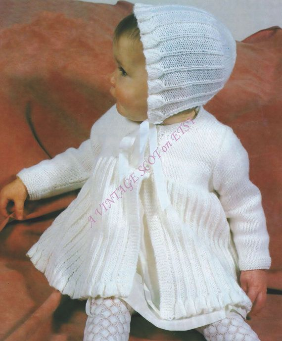 e77e03280 BABY   Toddler 4ply Matinee Jacket and Bonnet 18 to 20 ins - PDF of ...