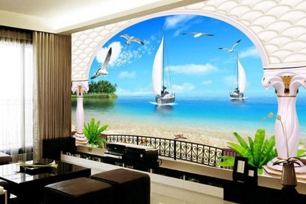 Muhteşem Deniz Manzaralı Duvar Kağıtları Dekorasyon Önerileri - fototapeten f r k che