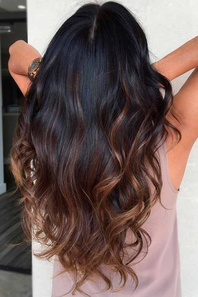 30 Trendy Black Ombre Hair Ideas To Pull Off Lovehairstyles Black Hair Ombre Hair Color For Black Hair Black And Blonde Ombre