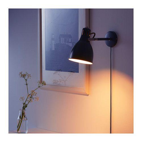 ARÖD Seinävalaisin, harmaa IKEA   Vägglampa, Ikea