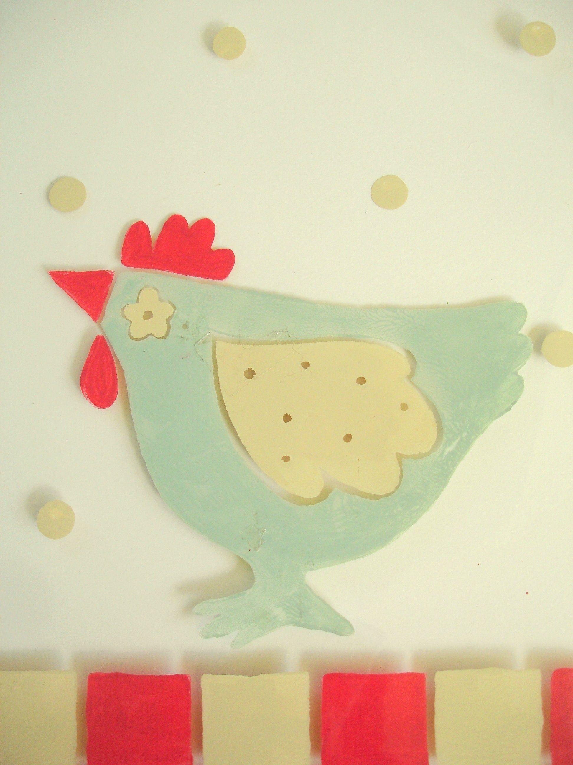 chicken design for a Bespoke glass splash back by Josephine ...