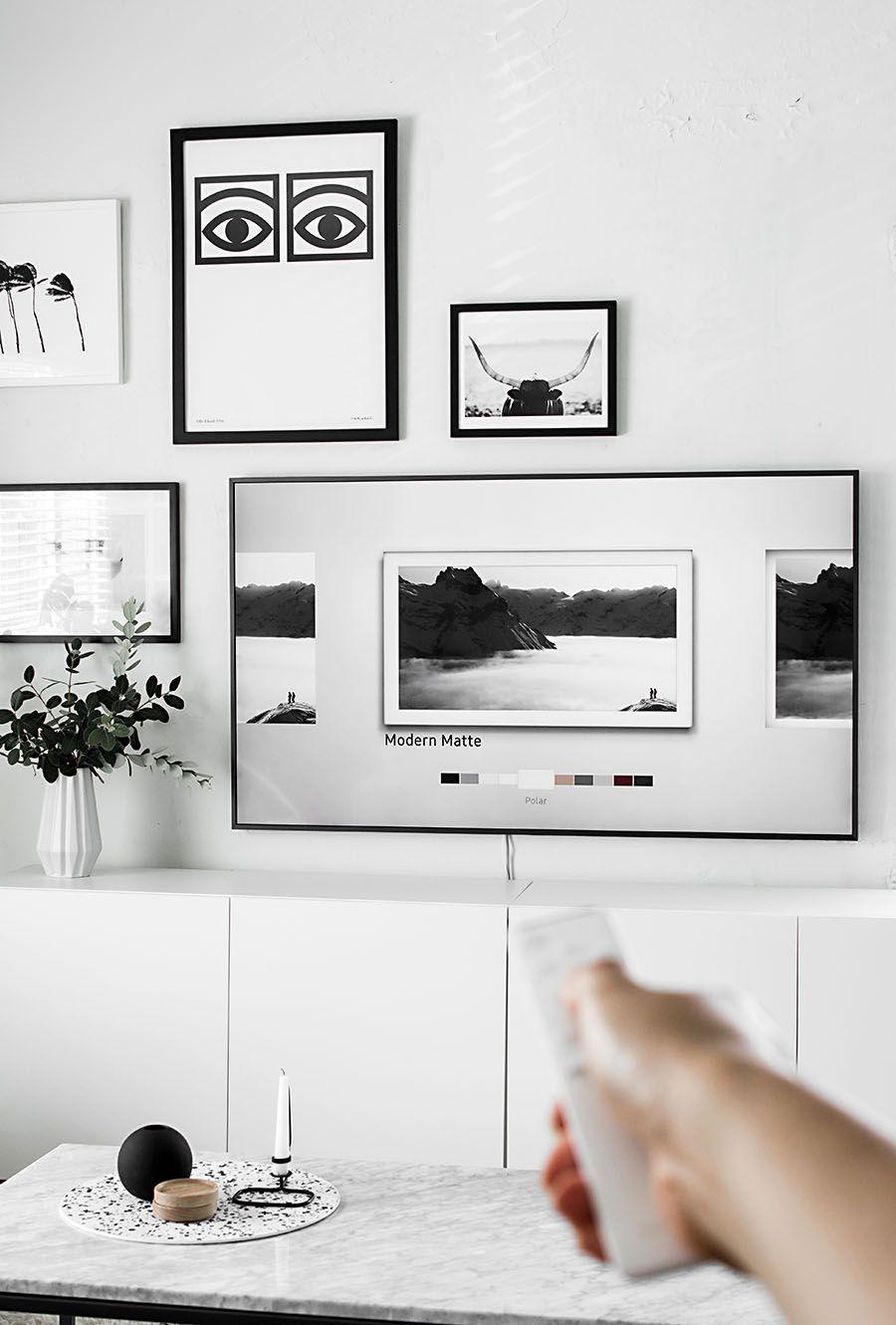 Gallery Wall Update A Tv That Matches Our Decor Gallery Wall  # Pan De Mur Avec Tv