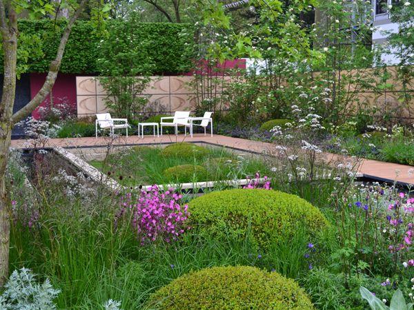 Would make a great rooftop garden (Brewin Dolphin Garden, Robert Myers, Chelsea Flower & Garden Show)