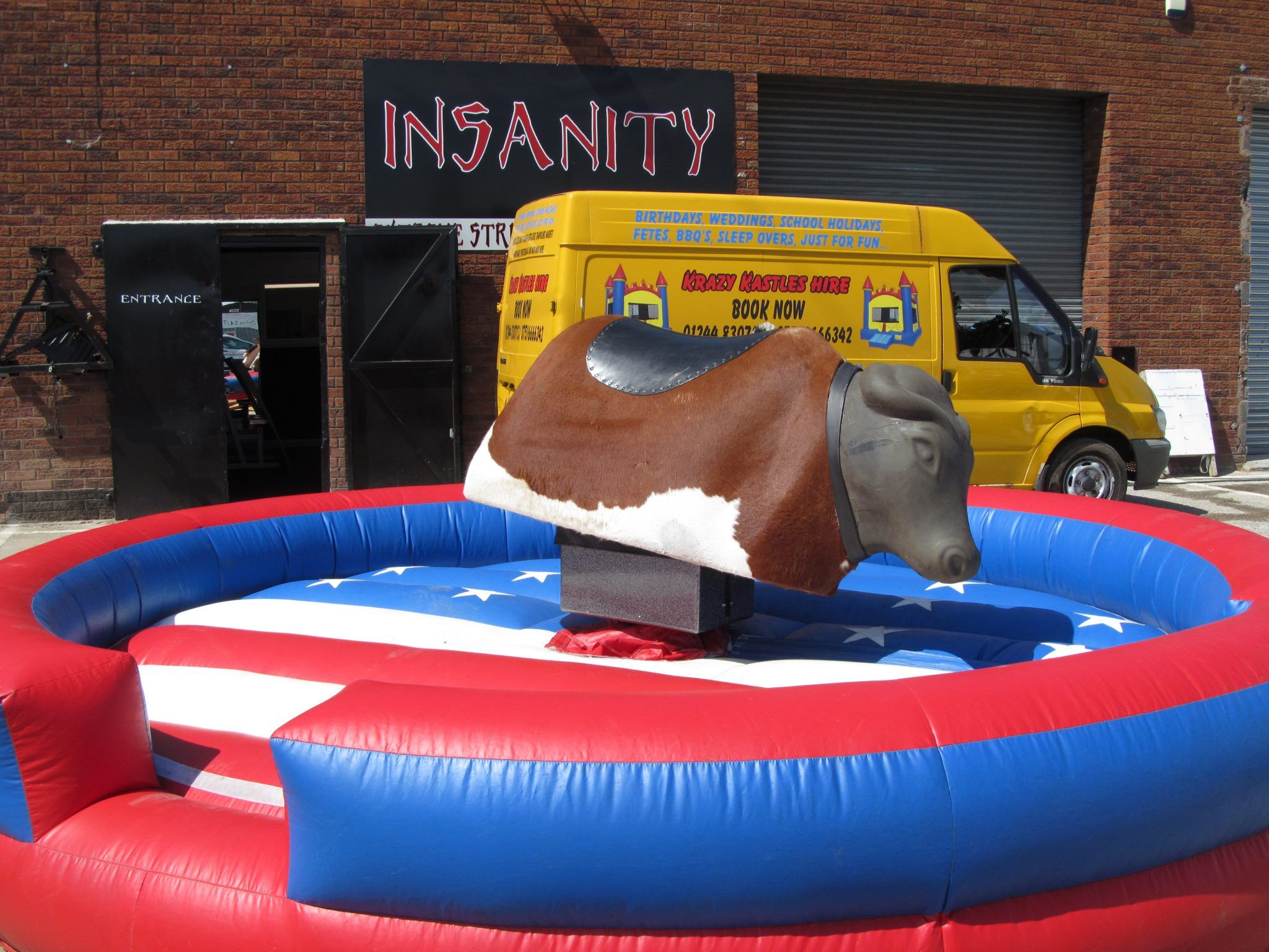 Rodeo Bull Hire Sumo Suit Deeside Chester North Wales