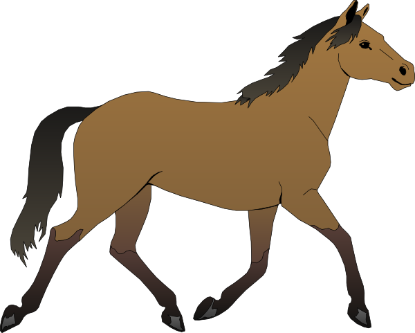 Horse brown. Clip art running vector
