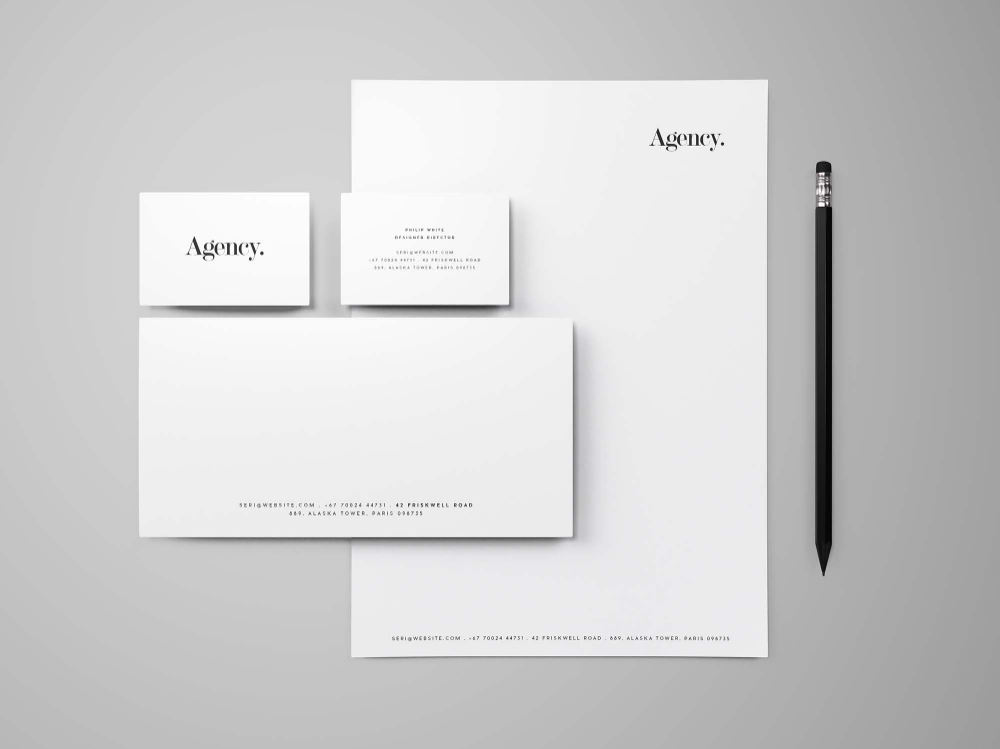 Free Stationary With Shadow Mockup Psd Design Mockup Free Stationery Mockup Free Branding Mockups Free